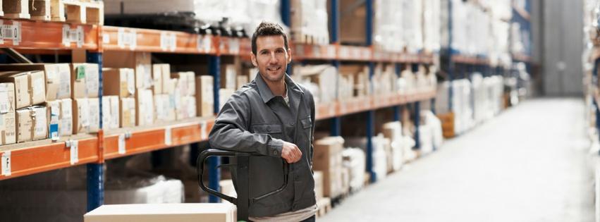 Knop naar de magazijnbeheer module voor efficiënte opvolging van uw voorraad
