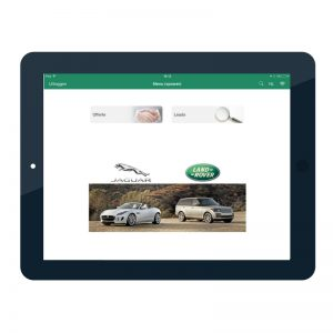 Car configurator applicatie op de Ipad ontworpen voor Jaguar Land Rover