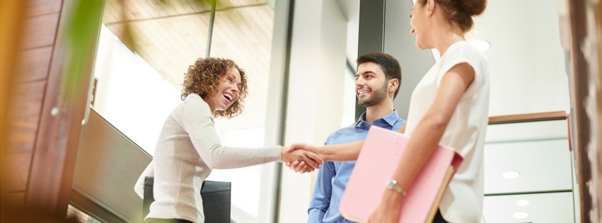 Knop naar de aankoop & verkoop module voor eenvoudige sales opvolging
