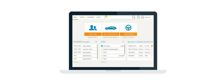 de CRM tool of Prospect desk in XDMS om uw klanten en prospecten eenvoudig op te volgen