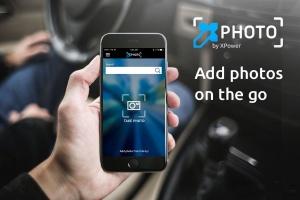 Knop naar Xphoto app de applicatie waarmee klanten eenvoudig foto's kunnen nemen en importeren in XDMS
