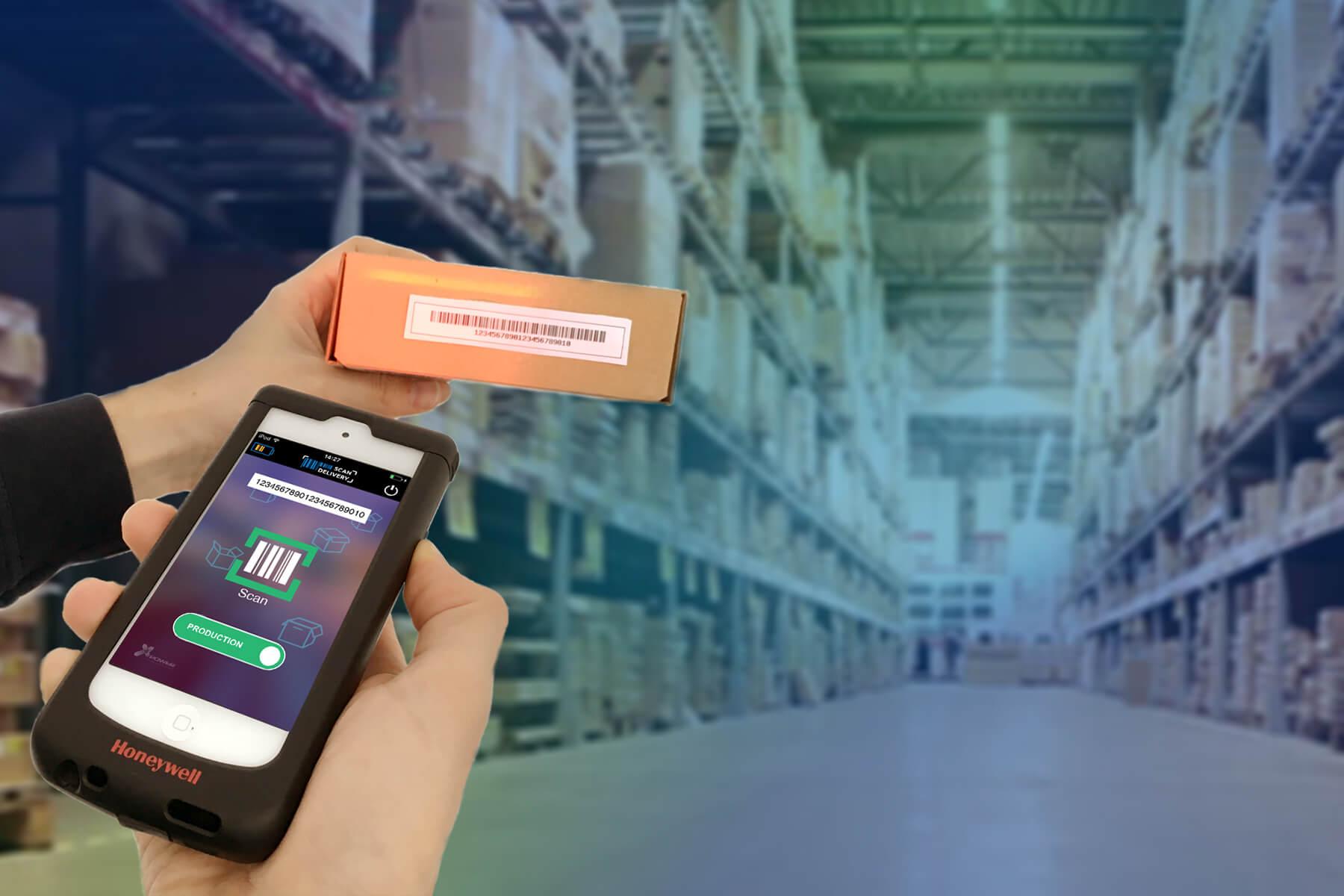 Barcode scannings applicatie voor het éénvoudig in en uitscannen van goederen in uw magazijn met eenvoudige verbinding XDMS