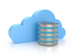 Cloud computing. Database concept